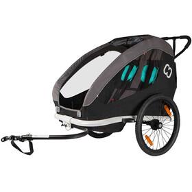 Hamax Traveller Cykelanhænger inkl. cykelarm & vognhjul, grå/sort
